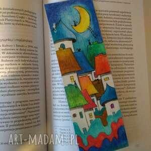Ręcznie malowana zakładka do książki-format 6,5 21,5 cm zakładki