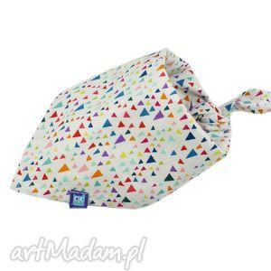 chustka bawełniana, wzór diamenty, chustka, trójkąty, bawełna, dziecko