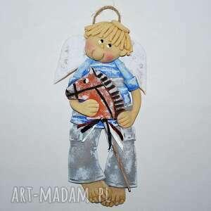 mój konik - anioł, masa solna, prezent, koń, dla chłopca, ozdoba pokoik