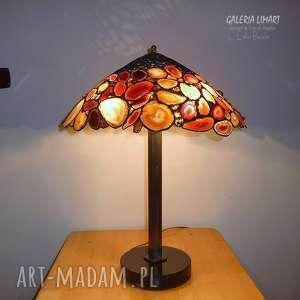 autorska lampa z ciętych brazylijskich agatów hand made niezwykle efektowna