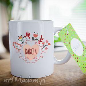 ręcznie wykonane ceramika kubek na prezent dzień babci i dziadka serce dla