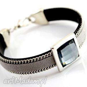 ręcznie robione bransoletka joyee posh grey & cristal