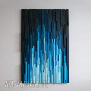 mozaika drewniana, obraz drewniany 3d fc, loft, modern, kolor