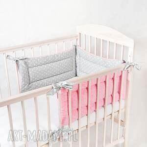 pokoik dziecka ochraniacz 3 częściowy minky, ochraniacz, łóżeczka