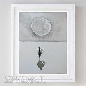 abstrakcja-formatu a5, abstrakcja, sól, papier, księżyc