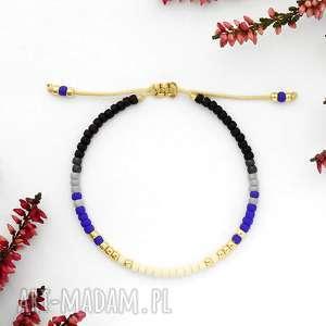 ręcznie robione bransoletka minimal - autumn cobalt