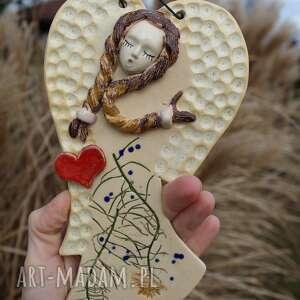 Delikatny aniołek, prezent dodatki enio art mały dla mamy