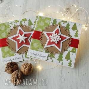 pomysły na święta prezenty Komplet 2 kartek Boże Narodzenie, kartki, xmas,