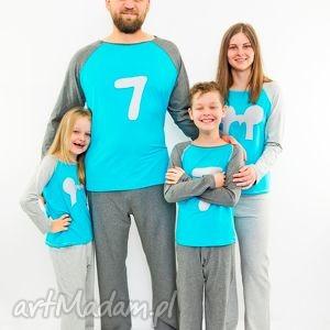 piżamy dla całej rodziny możliwość naszycia pierwszych literek imienia, piżama