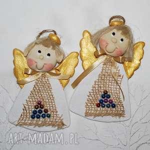 prezent święta Ewa i Gustaw - aniołki świąteczne, anioły, dekoracja,