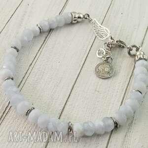 bransoletka srebrna z chalcedonu, biżuteria