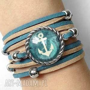 bransoletka kotwica, marynarska morska, navy