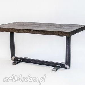 Stolik twiga industrialny, do loftu, minimalistyczny, dąb i stal