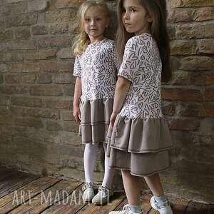 sukienka serca - classic line kids, dziewczęca, modna, stylowa, bawełniana, wygodna