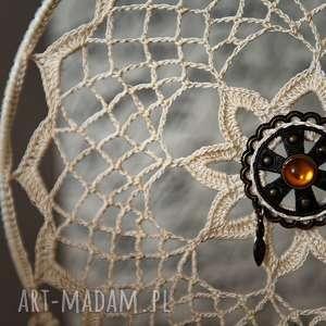dekoracje łapacz snów - ozdoba, ślub, rękodzieło, sypialnia, piórka, koraliki