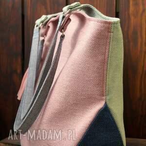 hand-made na ramię kolorowa torba