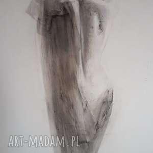 nude , duży-obraz-kobieta, czarno-biały-obraz, grafika-zmyslowa, do-salonu