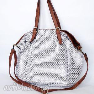 ręcznie zrobione na ramię xxl torba na ramię z brązem