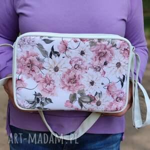 ręcznie zrobione pomysł co pod choinkę single bag - kwiaty akwarela