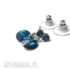 ręczne wykonanie kolczyki alloys collection /bermuda blue .kolczyki