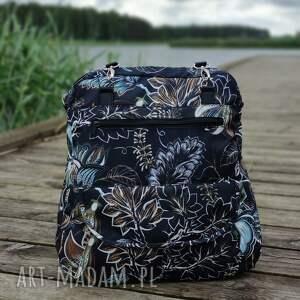torebka listonoszka - kwiaty vintage, elegancka, nowoczesna, jesień
