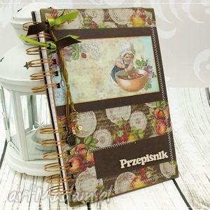 ręczne wykonanie scrapbooking notesy przepiśnik- owocowa kuchnia