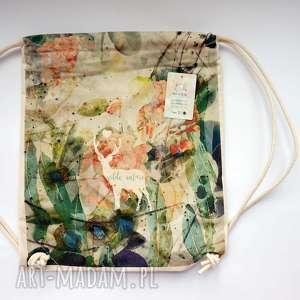 Prezent WILD NATURE plecak / worek torba - płócienna, wakacje, na-plażę