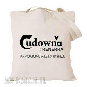 ręczne wykonanie torba z nadrukiem dla nauczycielki, wychowawczyni, prezent dzień
