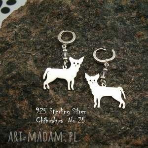 chihuahua srebro próby 925 kolczyki nr 25, chihuahua, kamienie naturalne
