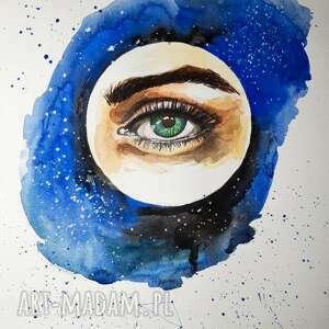wszechświat metafizyczna akwarela artystki adriany laube - kosmos, gwiazdy