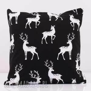 poduszki poduszka black deer 50x50cm od majunto, jeleń, poduszka-dekoracyjna