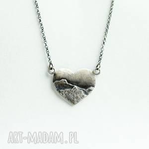 Naszyjnik z miłości do gór, srebro, ręcznie-wykonane, subtelny, góry, minimalizm,
