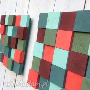 pomysł na prezent 3 Mozaiki Świąteczne, mozaika, świąteczna, płaskorzeźba, drewniany