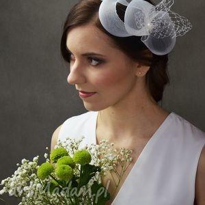 ozdoby do włosów biały zawijas, biały, ślub
