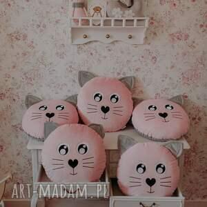 hand-made pokoik dziecka poduszka kotek różowy