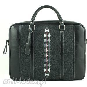 torba skorzana 012, torba, skora, haft, ludowo, romby