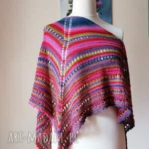 chustki i apaszki wakacje w meksyku colorful boho, rękodzieło, chusta na drutach