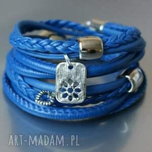 hand-made bransoletki bransoletka owijana szafirowa