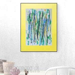 oryginalna abstrakcja na ścianę, minimalistyczna grafika do pokoju, nowoczesna