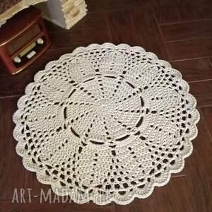 dywan ze sznurka bawełnianego okrągły 90cm, dywan, sznurka, hand