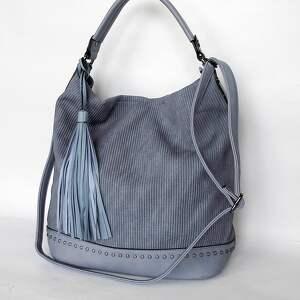 Torba z ekoskóry niebieska, torba, torebka