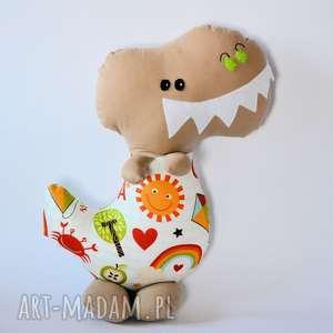 dinozaur t - rex antoś - 42 cm, dinozaur, dziecko, maskotka, zabawka, chłopczyk