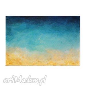 Głębia 11, nowoczesny obraz ręcznie malowany, abstrakcja, obraz, ręcznie, malowany