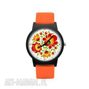 zegarki zegarek z silikonowym paskiem wiosenny folk, ludowy, folklor, radosny