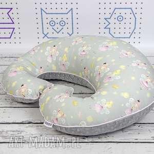 ręcznie robione dla dziecka duża poduszka do karmienia - wróżki