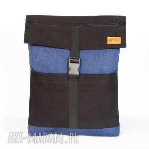 plecak czarno-chabrowy, plecak, czarny, niebieski, shopper, worek, unikalny