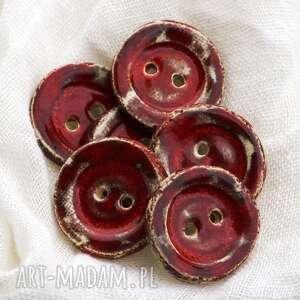 guziki ceramiczne 6 sztuk, ceramika, guziki, zestaw, ubrania, tekstylia