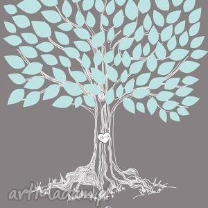 Drzewo wpisów - Plakat na wesele, ślub, rocznicę, urodziny., księga, gości, plakat