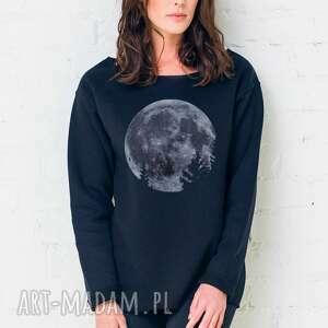 bluzy mmon oversize bluza, oversize, czarny, casual, moda, bawełna, święta