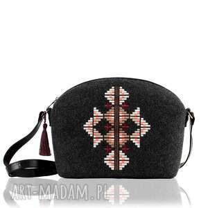 torebka filcowa 330, filcowa, haftowa, ludowa, prezent na święta